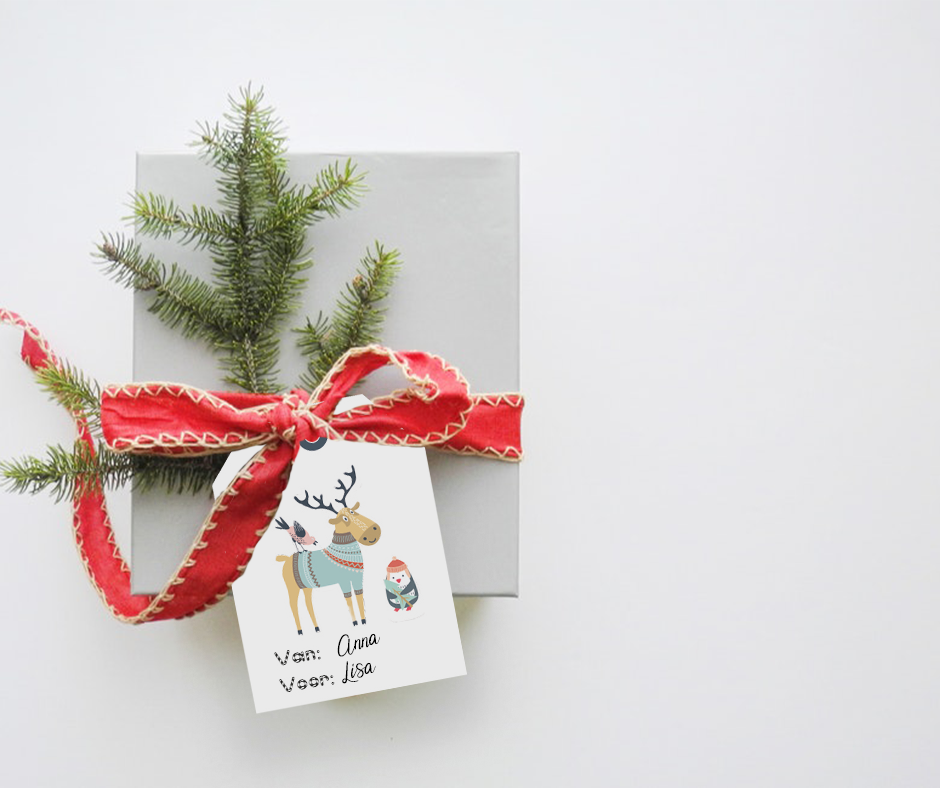 Salino Secret Santa ♥ 6 leuke nametags om aan je pakjes te hangen