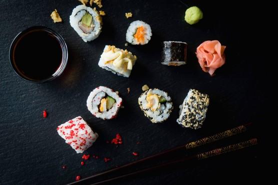 Food truck Sushi Foto's